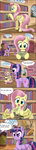 absurdres book comic fluttershy golden_oak_library highres moth otakuap princess_twilight tall_image long_image twilight_sparkle watership_down