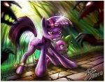 14-bis everfree_forest magic spike twilight_sparkle