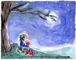 frostykat13 highres painting rainbow_dash scootaloo traditional_art watercolor