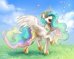flowers highres its-gloomy princess_celestia