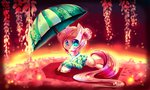 absurdres aquagalaxy dress fluttershy highres umbrella