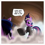 bandage catsuit eyepatch future_twilight mysticalpha the_terminator twilight_sparkle
