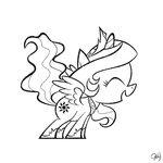 filly lineart oleg_savoskin princess_celestia