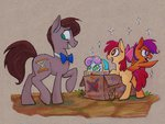 apple_bloom cardboard_box cutie_mark_crusaders doctor_who helmet ponified scootaloo sweetie_belle