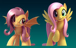 2snacks 3d_model flutterbat fluttershy