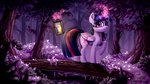 absurdres candle forest highres magic princess_twilight rysunkowasucharia trees twilight_sparkle