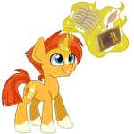 animated book magic partylikeapegasister quill sunburst