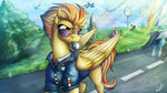absurdres clothes glasses highres lupiarts spitfire sunglasses whistle wonderbolts