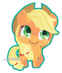 applejack chibi miss-glitter transparent