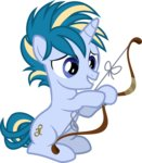 absurdres background_ponies bow_(weapon) comeha highres vector
