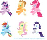 applejack fluttershy main_six pinkie_pie plushie princess_twilight rainbow_dash rarity the-clockwork-crow toy transparent twilight_sparkle