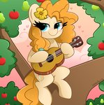 absurdres apples flowers guitar highres itskittyrosie pear pear_butter tree
