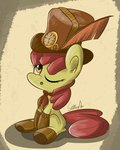 apple_bloom boots hat highres slitherpon steampunk tophat
