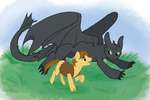 cartoonlion crossover hiccup how_to_train_your_dragon ponified toothless