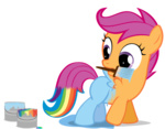 highres orangel8989 paint rainbow_dash scootaloo transparent vector