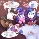 clothes cookie_crumbles dress fish hondo_flanks jumblehorse magic rarity sweetie_belle table