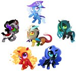 chibi discord hoofbeatdriven king_sombra nightmare_moon nightmare_star queen_chrysalis the_great_and_powerful_trixie