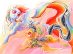 daring-do fleebites rainbow_dash traditional_art