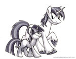 filly grayscale kenket shining_armor sophiecabra twilight_sparkle