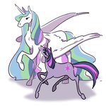 horselike kairean princess_celestia twilight_sparkle