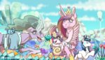 crystal flowers inuhoshi-to-darkpen magic mistmane princess_cadance princess_flurry_heart shining_armor