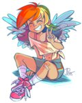 ddhew highres humanized rainbow_dash wings