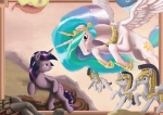 guard_pony livestream michelangelo princess_celestia sistine_stable spectralunicorn the_creation_of_adam twilight_sparkle