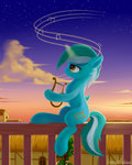 emeraldgalaxy highres lyra_heartstrings lyre magic