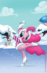 amy_mebberson angel balloon coat fluttershy ice_skates pinkie_pie rabbit snow winter