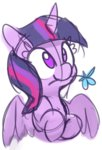 flowers lilfunkman princess_twilight sketch twilight_sparkle