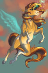 absurdres faline flying highres magic sunset_shimmer
