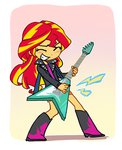 baekgup equestria_girls guitar humanized sunset_shimmer