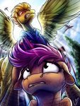 absurdres highres lupiarts scootaloo spitfire
