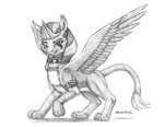 baroncoon highres sphinx sphinx_(character) traditional_art
