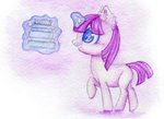 0okami-0ni book filly highres magic traditional_art twilight_sparkle
