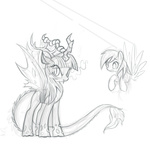 changeling corruption dark_magic derpy_hooves discordified mn27 sketch twilight_sparkle