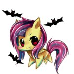 aquagalaxy bat flutterbat fluttershy transparent