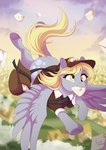 bag dennyvixen derpy_hooves flying hat highres letter