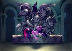 absurdres applejack fluttershy gashiboka highres main_six pinkie_pie princess_twilight rainbow_dash rarity statue twilight_sparkle