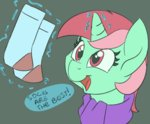 lockhe4rt magic minty socks unicorn