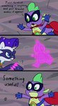 comic highres humdrum power_ponies radiance rarity spike weedgoku