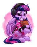 book clothes headphones highres princess_twilight twilight_sparkle whitediamonds