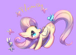 angel bird butterfly fluttershy mozuright