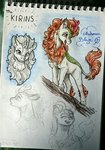 absurdres autumn_blaze gaelledragons highres kirin sketch traditional_art