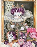 book clothes dress hat highres magic painting parody pinkie_pie princess_twilight rarity sararichard scarf traditional_art twilight_sparkle