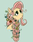 cosmicrewinds flowers fluttershy highres