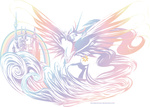 crossover equestria_chronicles final_fantasy logo princess_celestia rinoaleonmac transparent