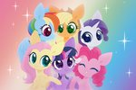 absurdres applejack belka-sempai fluttershy highres main_six pinkie_pie princess_twilight rainbow_dash rarity twilight_sparkle