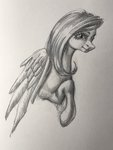 cosmickelpie fluttershy highres traditional_art