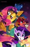 big_macintosh fluttershy highres karzahnii rarity the_ponytones toe-tapper torch_song